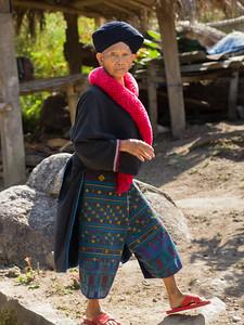 Elderly woman walking, Chiang Rai, Thailand