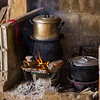 Wood burning stove in traditional kitchen, Chiang Rai, Thailand