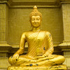 Close-up of Buddha statue in temple, Koh Samui, Surat Thani Province, Thailand