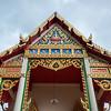 Architectural details of temple building, Koh Samui, Surat Thani Province, Thailand