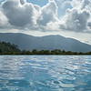 Swimming pool with mountains in background, Koh Samui, Surat Thani Province, Thailand