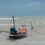 Boat in sea under stormy sky, Koh Samui, Surat Thani Province, Thailand