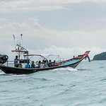 Tourists in boat, Koh Samui, Surat Thani Province, Thailand