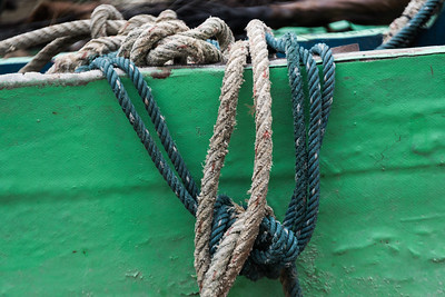 Close-up of ropes on boat, Koh Samui, Surat Thani Province, Thailand