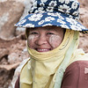 Portrait of a happy woman with tanaka powder on her face, Koh Samui, Surat Thani Province, Thailand