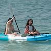 Two women kayaking in sea, Koh Samui, Surat Thani Province, Thailand