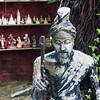 Close-up of a weathered statue, Koh Samui, Surat Thani Province, Thailand