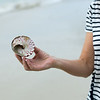 Close-up of person holding conch shell, Koh Samui, Surat Thani Province, Thailand