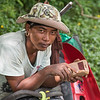 Portrait of a man holding mobile phone, Koh Samui, Surat Thani Province, Thailand
