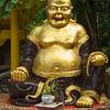Close-up of laughing Buddha statue, Koh Samui, Surat Thani Province, Thailand