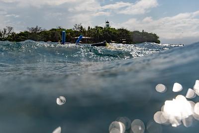 Waves in the Pacific Ocean, Port Douglas, Queensland, Australia