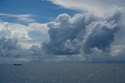 Ships on the Pacific Ocean, Port Douglas, Queensland, Australia