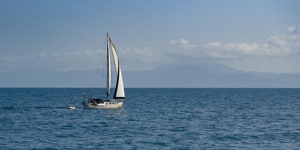Boat in the Pacific Ocean, Port Douglas, Queensland, Australia