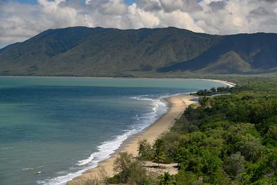 Elevated view of the beach, Port Douglas, Far North Queensland, Queensland, Australia