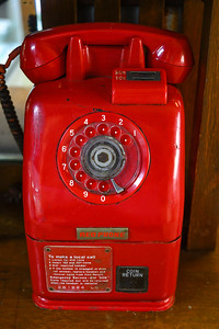 Close-up of coin operated phone, Queensland, Australia