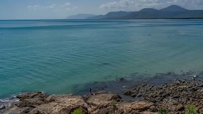 Elevated view on the rocky coast, Four Mile Beach, Port Douglas, Far North Queensland, Queensland, Australia
