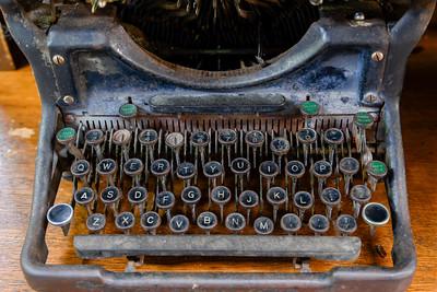 Close-up of an antique typewriter, Queensland, Australia