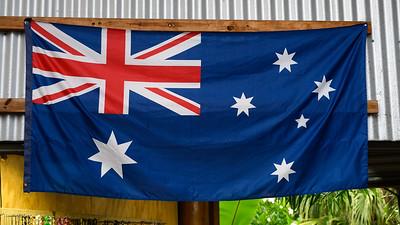 Close-up of Australian Flag, Queensland, Australia