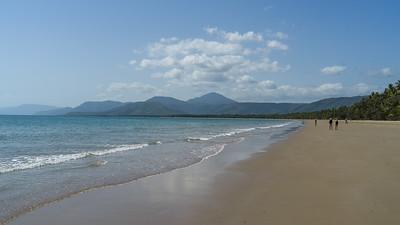 Scenic view of the beach, Four Mile Beach, Port Douglas, Far North Queensland, Queensland, Australia