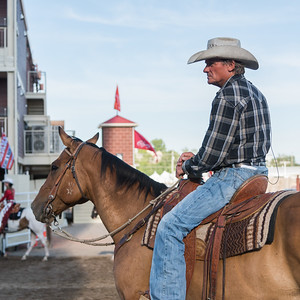 Cowboy on a horse at the annual Calgary Stampede, Calgary, Alberta, Canada