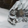 Close-up of hawk ice sculpture, Lake Louise, Alberta, Canada