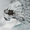 Close-up of a Hawk ice sculpture, Lake Louise, Alberta, Canada