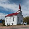 Church at roadside, Cabot Trail, Cape Breton Island, Nova Scotia, Canada