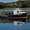 Fishing boat moored at dock, Mabou, Cape Breton Island, Nova Scotia, Canada