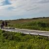 Family walking on boardwalk in landscape, Inverness, Mabou, Cape Breton Island, Nova Scotia, Canada