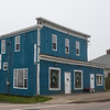 Buildings along street in town, Louisbourg, Cape Breton Island, Nova Scotia, Canada