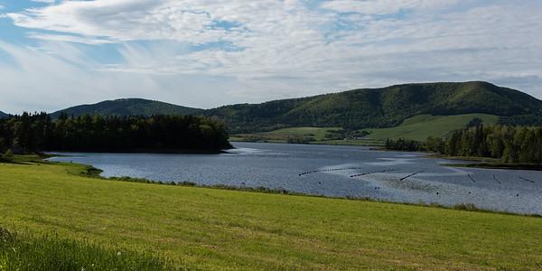 Scenic view of a river, Ceilidh Trail, Cape Breton Island, Nova Scotia, Canada