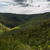 Scenic view of trees on mountains, Cabot Trail, Cape Breton Highlands National Park, Cape Breton Island, Nova Scotia, Canada