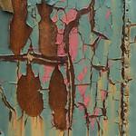 Wall of a Rusty old train at Sydney and Louisburg Railway Museum, Louisbourg, Cape Breton Island, Nova Scotia, Canada