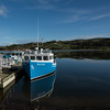 Fishing boats moored at harbor, Inverness Harbour, Inverness, Cape Breton Island, Nova Scotia, Canada