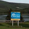 Information sign at Cabot Trail, Cape Breton Island, Nova Scotia, Canada