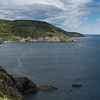 Scenic view of coastline, Meat Cove, Cape North, Cabot Trail, Cape Breton Island, Nova Scotia, Canada