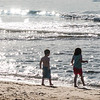 Children playing on beach, Inverness Beach, Mabou, Cape Breton Island, Nova Scotia, Canada