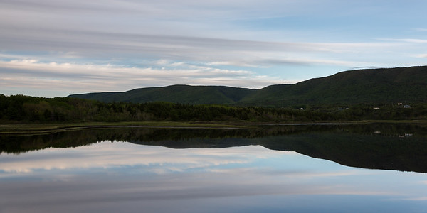 Scenic view of Cheticamp, Cabot Trail, Cape Breton Island, Nova Scotia, Canada