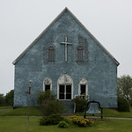 Facade of a church, Cape Breton Island, Nova Scotia, Canada