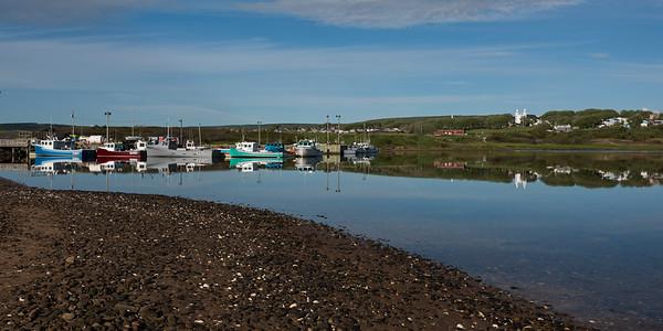 Fishing boats at harbor, Inverness Harbour, Mabou, Cape Breton Island, Nova Scotia, Canada