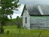 Old abandoned barn in a field, Komarno, Manitoba, Canada