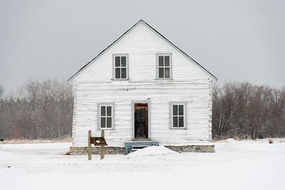 Facade of a house, Hecla Grindstone Provincial Park, Manitoba, Canada