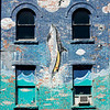 Exterior Detail of a wall mural in St. John's, Newfoundland and Labrador, Canada