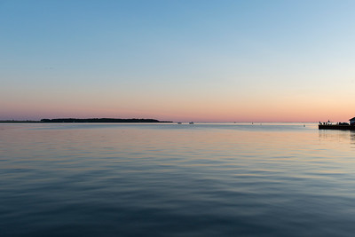 Sea at sunset, Spinnakers Landing, Summerside, Prince Edward Island, Canada