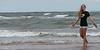 Girl enjoying on the beach, Prince Edward Island, Canada