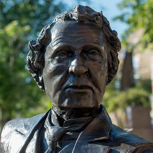 Sir John A Macdonald statue in Charlottetown, Prince Edward Island, Canada