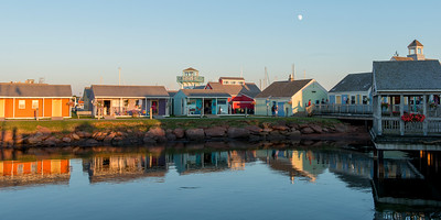Waterfront buildings at Spinnakers Landing, Summerside, Prince Edward Island, Canada