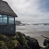 Restaurant on the beach, Pacific Rim National Park Reserve, Tofino, Vancouver Island, British Columbia, Canada