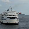 BC ferry in sea, Bowen Island, British Columbia, Canada
