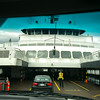 Cars loading onto a ferry, British Columbia, Canada